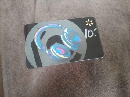 10.00 Wal-Mart Gift Card