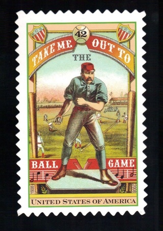 2008 USPS Take Me Out To The Ball Game Stamp display piece