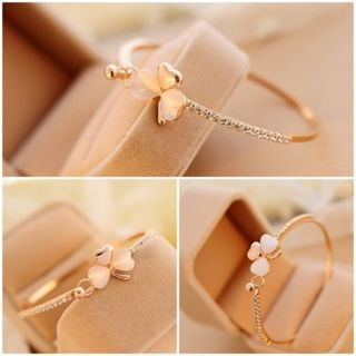 NEW 2018 - Fashion Charm Women Flower Crystal Gold Plated Cuff Bracelet Bangle Jewelry Gift