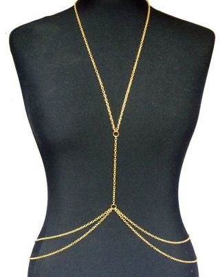NEW Gold Body Belly Waist Chain Torso Accessory FREE SHIPPING