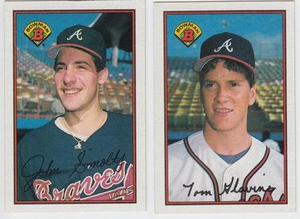 Free John Smoltz 1989 Bowman Rookie Card Tom Glavine