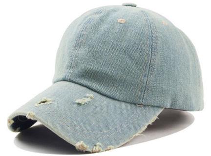 Baseball Cap - Jeans Denim Baseball Peaked Cap Hat