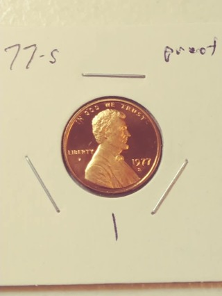 1977-S Proof Cameo Lincoln Penny! 112