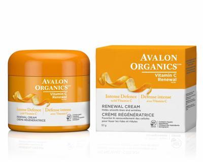 New Avalon Organics Intense Defense with Vitamin C Renewal Cream 2 Oz.