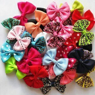 New 2'' Candy Color Solid/ Dot/ Leopard Print Baby Girls Bow Hairpin Clip x 10PCs