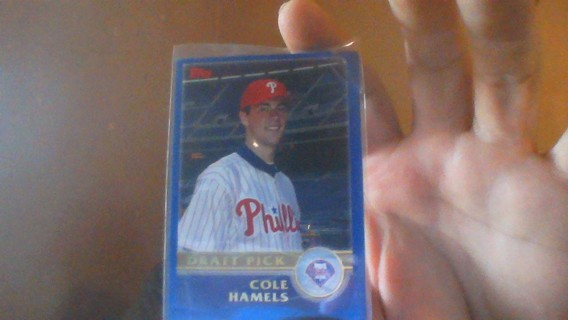 2003 TOPPS COLE HAMELS ROOKIE