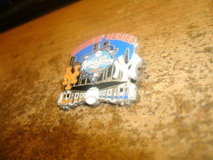 collectible 2000 mlb world series-mets/yankees pin-subway series-nice!