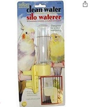 JW Pet Company Clean Water Silo Waterer Bird Accessory
