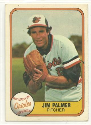 Jim Palmer 1981 Fleer #169 Baltimore Orioles