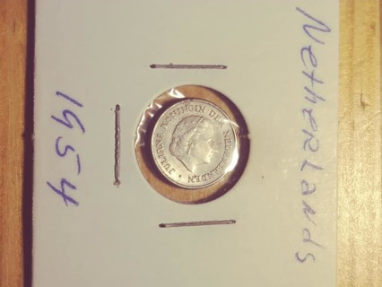1954 Netherlands 10 Cents! 97