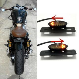 1x Black LED Turn Signals License Plate Tail light
