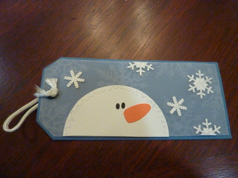 Free handmade large snowman tag stickles printed vellum for Custom tags for crafts