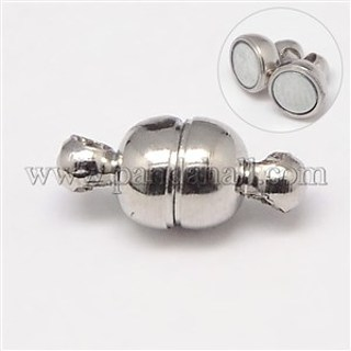small strong silver tone magnetic clasp