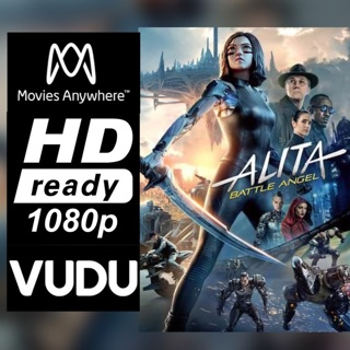 ALITA: BATTLE ANGEL HD MOVIES ANYWHERE OR VUDU CODE ONLY  REDEEM NOW