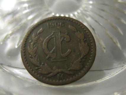 (FC-67) 1906 Mexico: 1 Centavo - narrow date