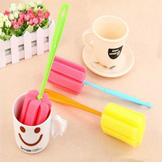 3PCS Kitchen Soft Sponge Brush Bottle Cup Glass Washing Cleaning Cleaner Tool