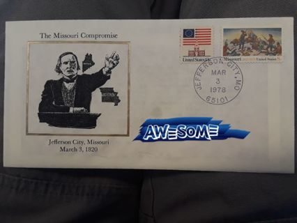 FDC (FIRST DAY COVER) The Missouri Compromise ☆ FREE SHIPPING! ☆ GIN Bonus!