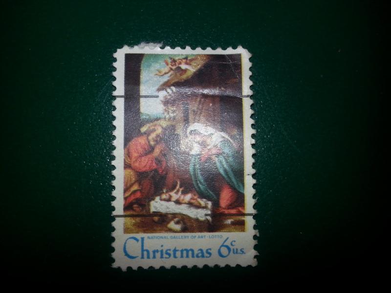 FREE Christmas Stamp Manger Scene National Gallery Of Art 6 Cent US