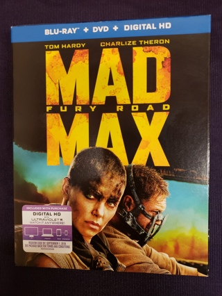 Mad Max: Fury Road (Blu-ray Disc, 2015, +DVD) Blue ray Movie