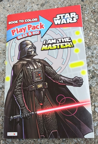 STARS WARS SMALL COLORING BOOK WITH STICKERS USE YOUR OWN CRAYONS
