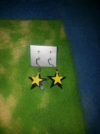 ☆★ Yellow and Black Star Earrings ☆★