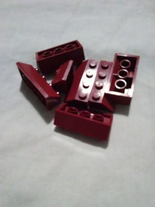 Dark red Lego