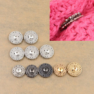 20Pcs Flower Metal Snap Fasteners Sew on Buttons DIY Sewing Clothing Bags