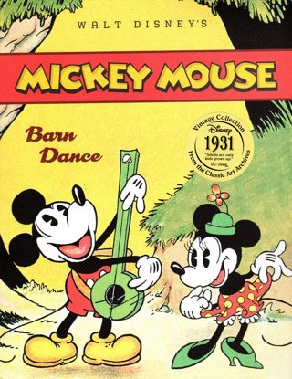 Mickey Mouse Barn Dance Book - Vintage Collection - 1931