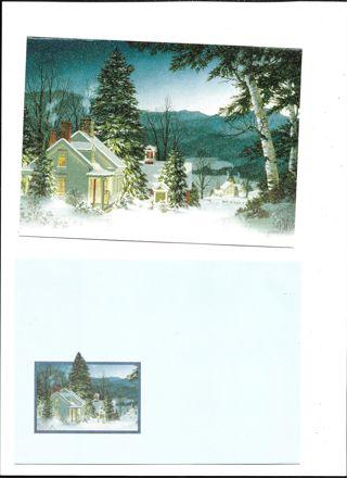 Christmas Card Unused With Envelope Christmas scene