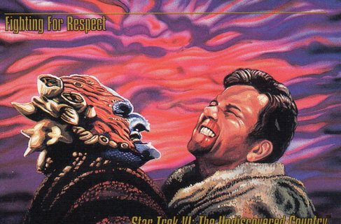 1993 Star Trek Collectible/Trade Card: The Undiscovered Country: Fighting for Respect