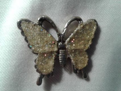 Large Butterfly pendant with some bling