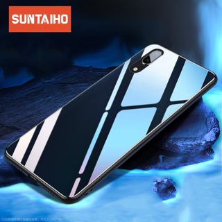 Suntaiho Case for huawei mate 20 lite case Protective Glass Phone Case for Huawei p20 Lite case