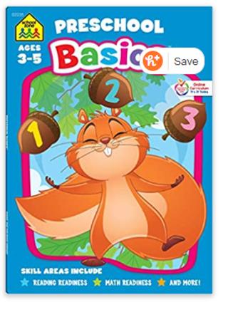 School Zone - Preschool Basics Workbook - 64 Pages