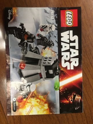 Free Lego Star Wars Instructions 75132 First Order Battle Pack