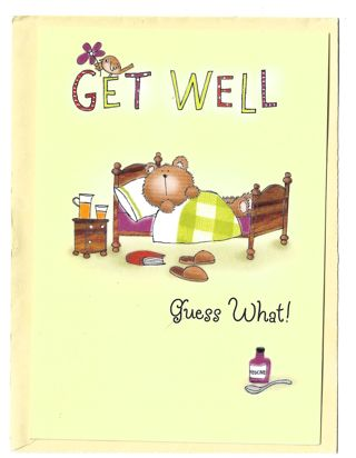 Get Well Card Unused With Envelope Cute