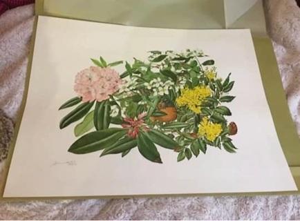The Franklin Mint Flowers of America Art