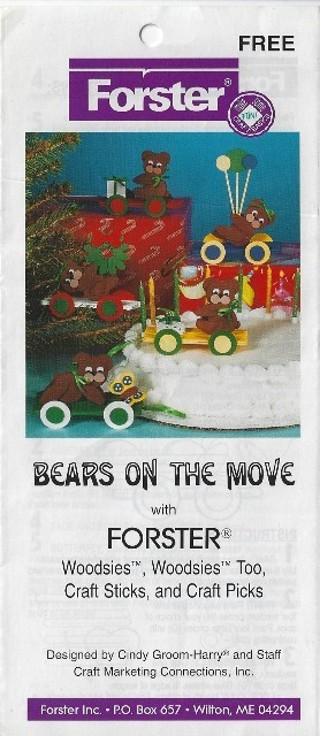 * Forster Woodcraft Pattern - Bears on the Move