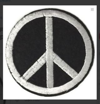 NEW Peace Symbol Sign Logo IRON ON PATCH Adhesive Embroidered Applique Badge FREE SHIPPING