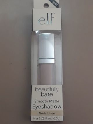 e.l.f. Beautifully Bare Smooth Matte Liquid Eyeshadow in Nude Linen BNIP