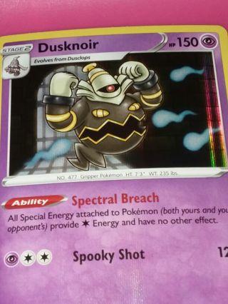 Vivid Voltage Rare Holo Dusknoir Pokemon Card Unplayed NM