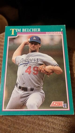 1991 Score TIM BELCHER #187 (Indians) Baseball Card
