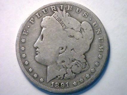 1891-O Morgan 90% Silver Dollar Coin!2
