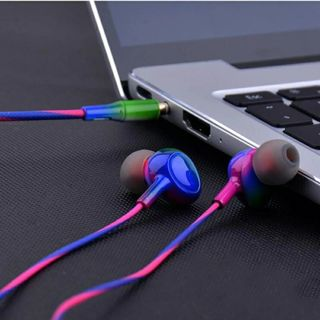 Sport Headsets Bass Gradient Wired In Ear Phones Headphone Head Phones with Mic Music Earphones