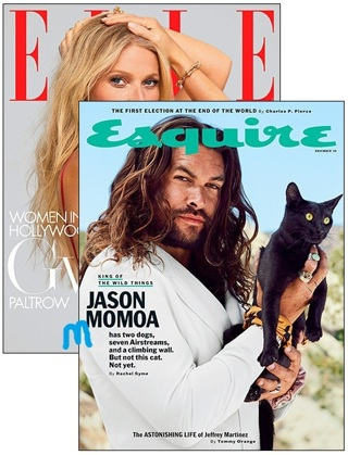 LAST ONE! Even Lower GIN! COMBO ELLE / ESQUIRE TWO Year Subscription To Each Magazine