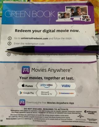 Digital download of Green Book