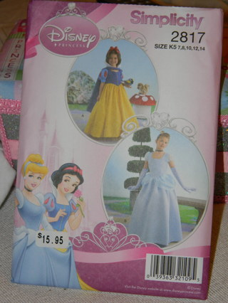 Free Simplicity Disney Princess Cinderella And Snow White Dress New Disney Sewing Patterns