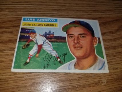 1956 Topps Baseball Luis Arroyo #64 St Louis Cardinals,VGEX condition,Free Shipping!