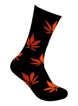 ORANGE WEED SOCKS
