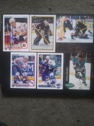 NHL (Hand Signed) Canucks, Capitals, Sharks