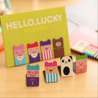 4PCs Bookmarks Note Pad Memo Stationery Book Mark Novelty Funny Gift Chic